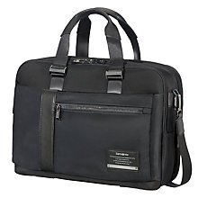 Buy Samsonite Openroad Bailhandle Expandable 15.6inch Laptop Briefcase, Jet Black Online at johnlewis.com