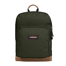 Buy Eastpak Houston Backpack, Army Socks Green Online at johnlewis.com
