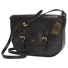 Buy Lauren Ralph Lauren Messenger Bag, Black Online at johnlewis.com
