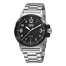 Buy Oris 01 735 7641 4364-07 8 22 03 Men's BC3 Advanced Day Date Bracelet Strap Watch, Silver/Black Online at johnlewis.com