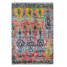 Buy Ramezani Sari Silk Meadow Rug, 165 x 240cm, Multi Online at johnlewis.com