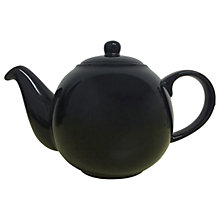 Buy London Pottery Black Gloss Globe Teapot, 6 Cup Online at johnlewis.com