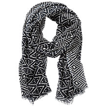 Buy Betty Barclay Long Abstract Print Scarf, Black/Cream Online at johnlewis.com