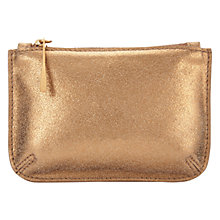 Buy Jigsaw Ana Metallic Small Leather Pouch, Bronze Online at johnlewis.com