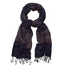Buy White Stuff Wide Shimmer Stripe Scarf, Grey Online at johnlewis.com