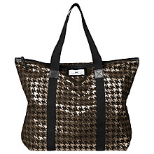 Buy Et DAY Birger et Mikkelsen Day Gweneth Checked Tote Bag, Gold Online at johnlewis.com