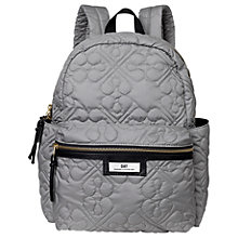 Buy Et DAY Birger et Mikkelsen Gweneth Quilted Flower Backpack, Grey Online at johnlewis.com