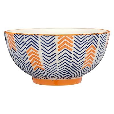 Image of Pols Potten Dakara Chevron 14cm Bowl, Blue