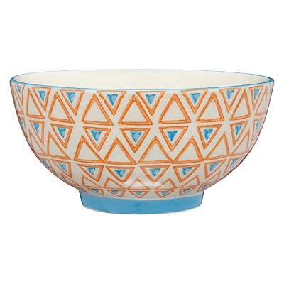 Image of Pols Potten Dakara Triangles 14cm Bowl, Orange