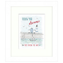 Buy East Of India - Follow Your Dreams Framed Print, 23 x 27cm Online at johnlewis.com