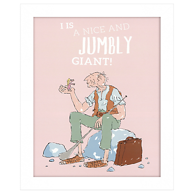 Roald Dahl – I Is A Nice And Jumbly Giant Framed Print, 27 x 33cm