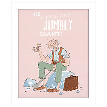Buy Roald Dahl - I Is A Nice And Jumbly Giant Framed Print, 27 x 33cm Online at johnlewis.com