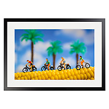 Buy David Gilliver - Cobbled Road Framed Print, 70 x 50cm Online at johnlewis.com