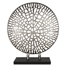 Buy Libra Coral Plaque On Stand Sculpture, Silver Online at johnlewis.com