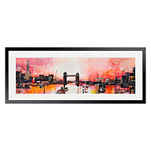 Buy Ben Phillips - Tower Bridge At Dusk Framed Print, 100 x 40cm Online at johnlewis.com