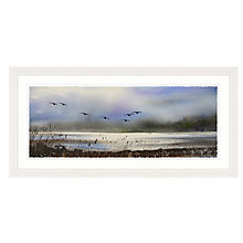 Buy Keith Nash - Over The Marsh Framed Print, 107 x 52cm Online at johnlewis.com