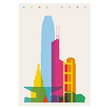 Buy House by John Lewis, Yoni Alter - Hong Kong Unframed Print, 30 x 40cm Online at johnlewis.com