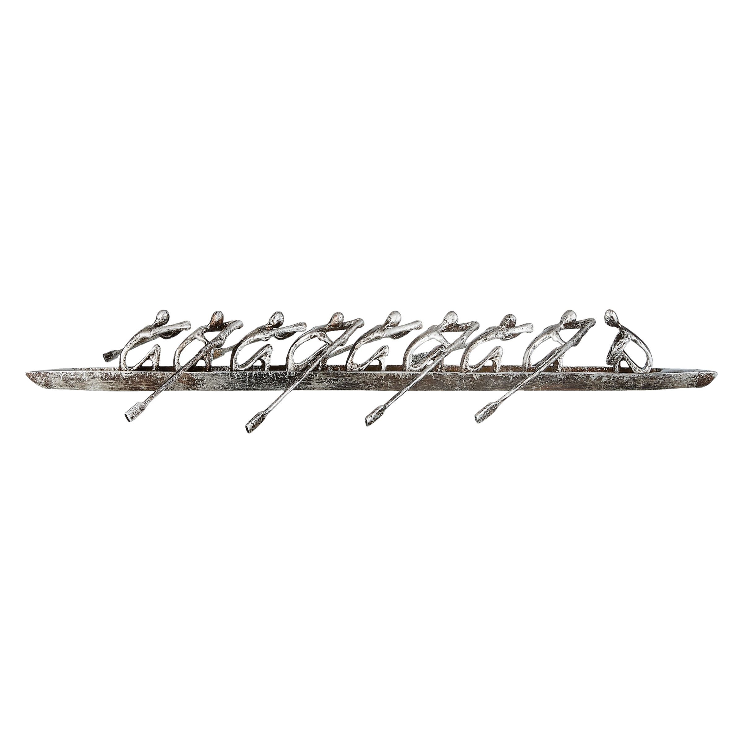 Libra Libra Rowing Eight Sculpture, Silver