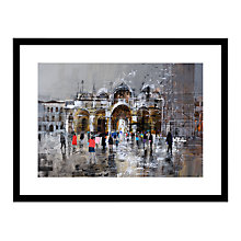 Buy Mike Bernard - Rain In Venice Framed Print, 81 x 71cm Online at johnlewis.com