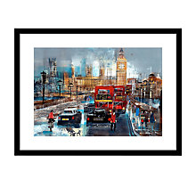 Buy Nagib Karsan - Traffic In Westminster Framed Print, 87 x 87cm Online at johnlewis.com