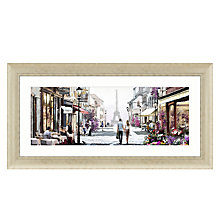 Buy Richard Macneil - Paris Cafe Framed Print,112 x 57cm Online at johnlewis.com