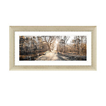 Buy Assaf Frank - Autumn Walk Panel Embellished Framed Print, 112 x 57cm Online at johnlewis.com