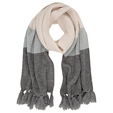 Buy Mint Velvet Metallic Stripe Scarf, Rose/Multi Online at johnlewis.com