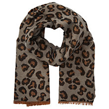 Buy Miss Selfridge Leopard Print Scarf, Multi Online at johnlewis.com