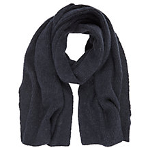 Buy Mint Velvet Rib Knit Scarf, Navy Online at johnlewis.com