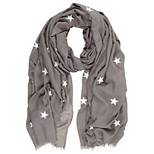 Buy Mint Velvet Scattered Embroidered Star Scarf, Grey Online at johnlewis.com