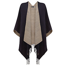 Buy Mint Velvet Blanket Cape, Navy/Oatmeal Online at johnlewis.com
