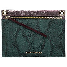 Buy Kurt Geiger Gemini Lurex Snake Pouch, Green/Multi Online at johnlewis.com