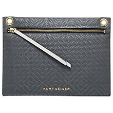Buy Kurt Geiger Gemini Lurex Woven Pouch, Grey Online at johnlewis.com