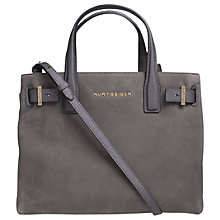 Buy Kurt Geiger London Nubuck Soft Leather Tote Bag, Grey Online at johnlewis.com