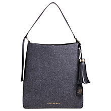 Buy Kurt Geiger Penelope Felt Hobo Bag, Grey Online at johnlewis.com