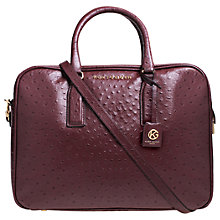 Buy Kurt Geiger Abigail Leather Ostrich Bowling Bag, Wine Online at johnlewis.com