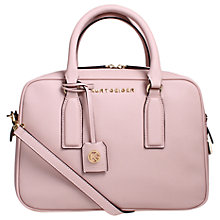 Buy Kurt Geiger Abigail Saffiano Leather Medium Bowling Bag, Pale Pink Online at johnlewis.com