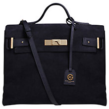 Buy Kurt Geiger Britt Suede Tote Bag, Navy Online at johnlewis.com