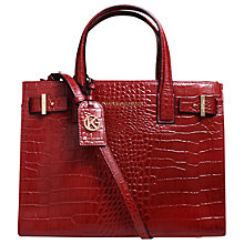 Buy Kurt Geiger London Croc Leather Tote Bag, Rust Online at johnlewis.com