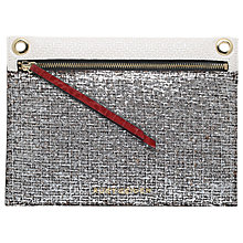 Buy Kurt Geiger Gemini Lurex Tweed Pouch, Silver Online at johnlewis.com