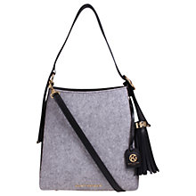 Buy Kurt Geiger Penelope Felt Medium Hobo Bag, Grey Online at johnlewis.com