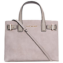 Buy Kurt Geiger London Suede Soft Leather Tote Bag, Taupe Online at johnlewis.com