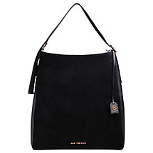 Buy Kurt Geiger Penelope Suede Extra Large Hobo Bag, Black Online at johnlewis.com