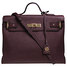 Buy Kurt Geiger Britt Saffiano Leather Tote Bag, Wine Online at johnlewis.com