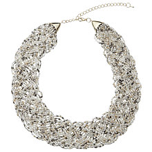Buy John Lewis Seed Bead Collar Necklace, Gold/Multi Online at johnlewis.com