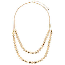 Buy John Lewis Double Layer Disc Necklace Online at johnlewis.com