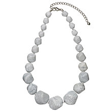 Buy John Lewis Marble Bead Statement Necklace, Grey Online at johnlewis.com