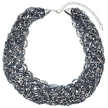 Buy John Lewis Seed Bead Statement Collar Necklace, Silver/Multi Online at johnlewis.com
