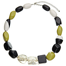 Buy John Lewis Beaded Statement Necklace, Black/Chartreuse Online at johnlewis.com