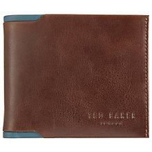 Buy Ted Baker Sidd Contrast Leather Bifold Wallet, Tan Online at johnlewis.com